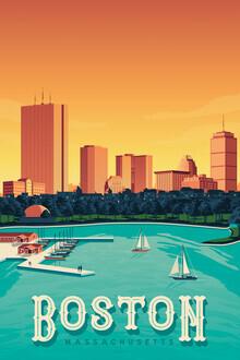 François Beutier, Boston vintage travel wall art (United States, North America)