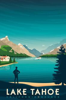 François Beutier, Lake Tahoe Vintage Travel Wandbild (Vereinigte Staaten, Nordamerika)