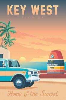 François Beutier, Key West II vintage travel wall art (United States, North America)