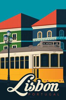 François Beutier, Lissabon Vintage Travel Wandbild (Portugal, Europa)