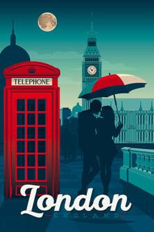 François Beutier, London Vintage Travel Wandbild (Großbritannien, Europa)