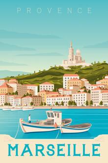 François Beutier, Marseille Vintage Travel Wandbild (Frankreich, Europa)
