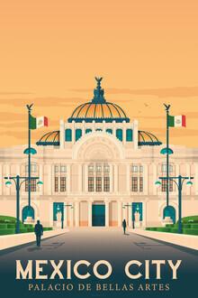 François Beutier, Palacio Bellas Artes Mexico City vintage travel wall art (Mexico, Latin America and Caribbean)
