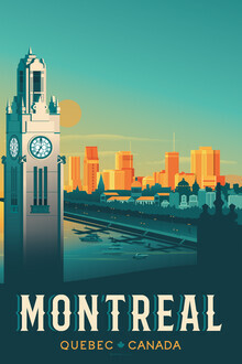 François Beutier, Montreal Vintage Travel Wandbild (Kanada, Nordamerika)
