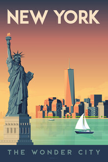 François Beutier, New York vintage travel wall art (United States, North America)