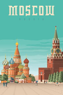 François Beutier, Moscow vintage travel wall art (Russia, Europe)