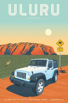 François Beutier, Uluru Vintage Travel Wandbild (Australien, Australien und Ozeanien)