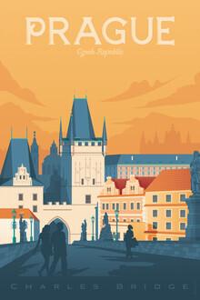 François Beutier, Prag Vintage Travel Wandbild (Tschechische Republik, Europa)