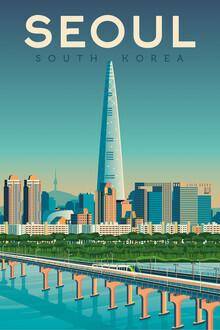 François Beutier, Seoul Vintage Travel Wandbild (Südkorea, Asien)