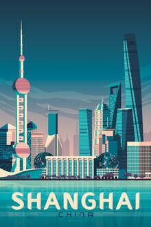 François Beutier, Shanghai Vintage Travel Wandbild (China, Asien)