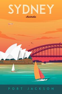 François Beutier, Sydney Vintage Travel Wandbild (Australien, Australien und Ozeanien)