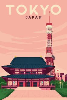 François Beutier, Tokyo Vintage Travel Wandbild (Japan, Asien)