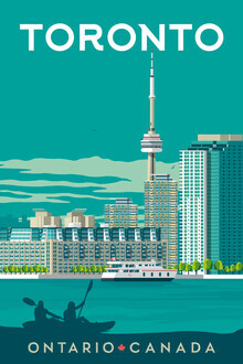 François Beutier, Toronto Vintage Travel Wandbild (Kanada, Nordamerika)