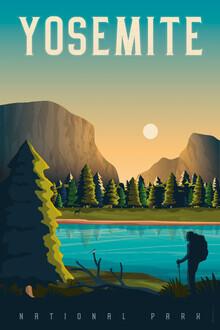 François Beutier, Yosemite Vintage Travel Wandbild (Vereinigte Staaten, Nordamerika)
