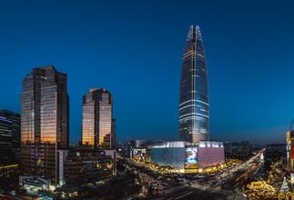 Leander Nardin, panorama shot with cityscape of  Seoul (Korea, South, Asia)
