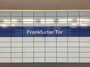 Claudio Galamini, U-Bahnhof Frankfurter Tor (Deutschland, Europa)