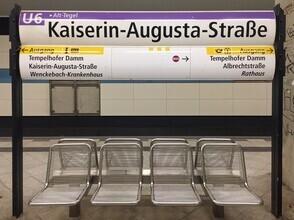 Claudio Galamini, U-Bahnhof Kaiserin-Augusta-Straße (Deutschland, Europa)