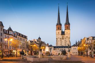 Martin Wasilewski, Blue Hour in Halle (Germany, Europe)