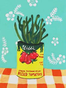 Anita Letuve, Italian Peeled Tomatoes on my Kitchen Table (Netherlands, Europe)