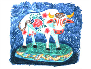 Anita Letuve, Flower Power Cow (Netherlands, Europe)