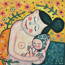 Anita Letuve, Gustav Klimt'S Motherhood Portrait (Niederlande, Europa)