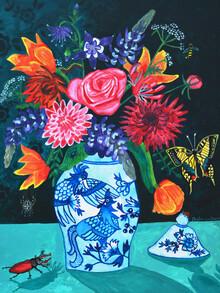 Anita Letuve, Botanische Blumen Still Leben (Niederlande, Europa)