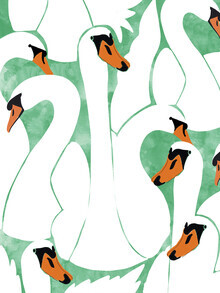 Uma Gokhale, White Calm Was Born Into A Swan (India, Asia)