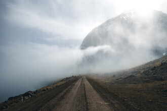 Philipp Pablitschko, Foggy Road (Iceland, Europe)