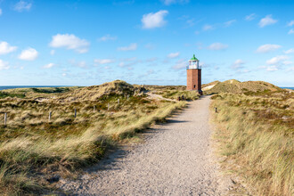 Jan Becke, Rotes Kliff Lighthouse on the island of Sylt (Germany, Europe)