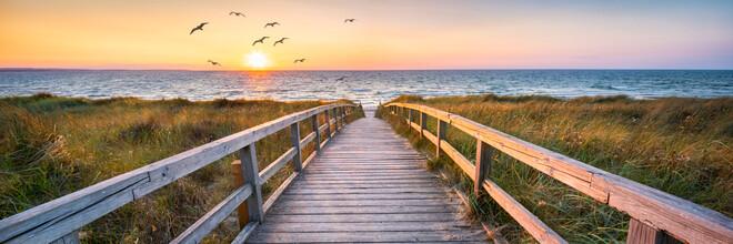 Jan Becke, Sunset at the beach (Germany, Europe)