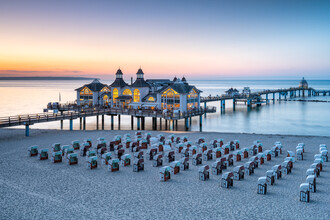 Jan Becke, Sellin pier at sunset (Germany, Europe)