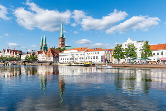 Jan Becke, Old town of Lübeck along the river Trave (Germany, Europe)