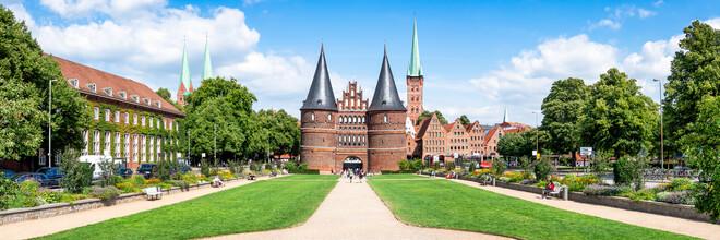 Jan Becke, The Holsten Gate in Lübeck (Germany, Europe)