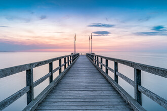 Jan Becke, Wooden bridge at the sea (Germany, Europe)