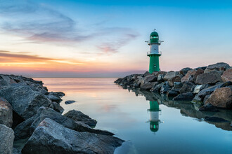 Jan Becke, Lighthouse Westmole of Warnemünde (Germany, Europe)