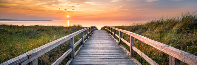 Jan Becke, Sunset at the dune beach (Germany, Europe)