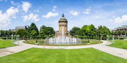 Jan Becke, Wasserturm in Mannheim (Deutschland, Europa)