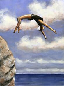 Sarah Morrissette, Diving from a Rock (Austria, Europe)