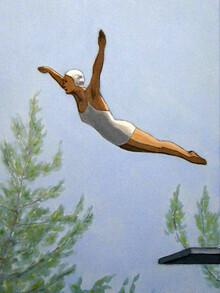Sarah Morrissette, Turmspringerin über den Bäumen (Österreich, Europa)