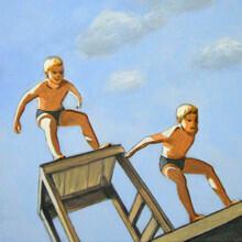 Sarah Morrissette, Two Jumping Boys (Austria, Europe)
