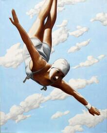 Sarah Morrissette, Turmspringerin mit Wolken (Österreich, Europa)