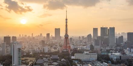 Jan Becke, Sonnenuntergang über der Skyline von Tokyo (Japan, Asien)