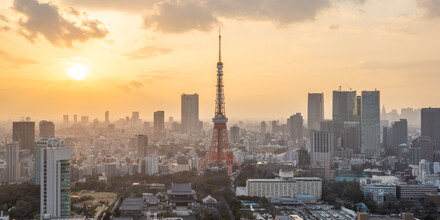Jan Becke, Sunset over the skyline of Tokyo (Japan, Asia)