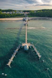 Jean Claude Castor, Seebrücke Sellin auf Rügen Luftaufnahme (Deutschland, Europa)