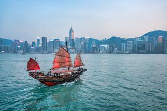 Jan Becke, Chinesische Dschunke in Hongkong (Hong Kong, Asien)