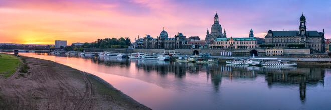 Jan Becke, Dresden Skyline bei Sonnenaufgang (Deutschland, Europa)