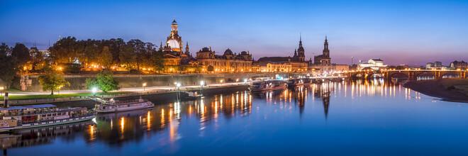 Jan Becke, Dresden Stadtansicht am Abend (Deutschland, Europa)