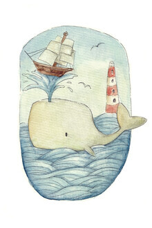 Mike Koubou, Cute whale in the Sea (Griechenland, Europa)