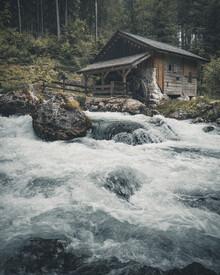 Franz Sussbauer, Mill at the creek I (Austria, Europe)
