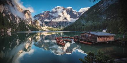 Jean Claude Castor, Dolomites Lago di Braies Panorama (Italy, Europe)